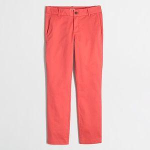 J.Crew Frankie Chino Pants Cropped Capri Ankle